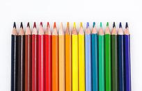彩色铅笔排列
