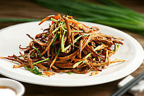 餐饮美食图片菜肴图片干煸茶树菇