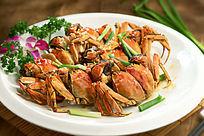 餐饮美食图片菜肴图片姜葱炒河蟹