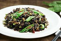餐饮美食图片菜肴图片尖椒毛豆海宁菜