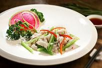 餐饮美食图片菜肴图片三色鱼丝