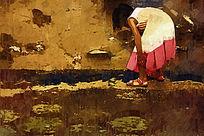 儿童时光油画