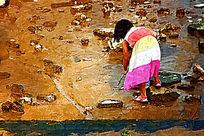 海边小女孩