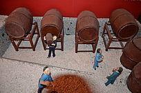 红酒的制作模型