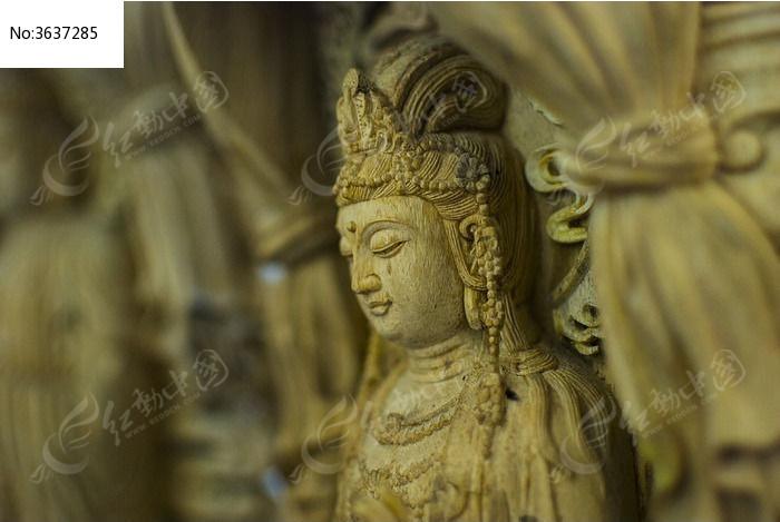 木雕原木佛像图片,高清大图_雕刻艺术素材