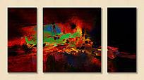 抽象油画 抽象 装饰画 无框画