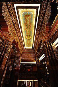 梵宫室内顶部设计