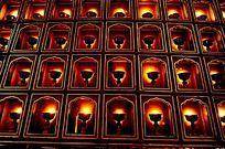 蜡烛墙的背景图案