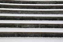 石阶上的雪