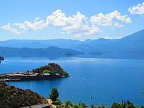 碧海蓝天泸沽湖