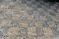 矩形背景图 石子地坪