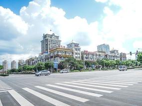 松江城区高楼和马路