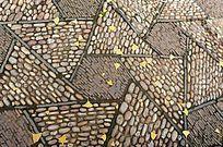 几何图形的拼花石子路 拼花背景