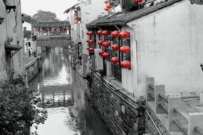 山塘街的小运河 廊桥