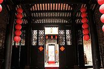 传统民居之前厅向外正上方景