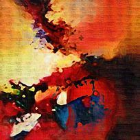 欧美装饰画 抽象油画