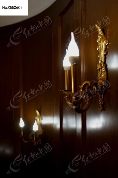 餐厅欧式复古壁灯蜡烛灯图片