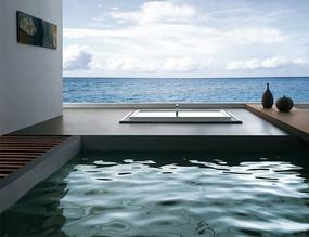 海边的现代浴室