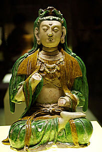 三彩菩萨像