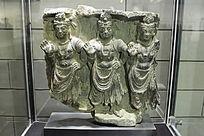 犍陀罗转轮王石雕