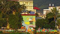幼稚园的外墙彩绘