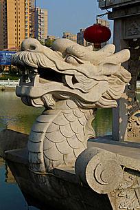 中国龙头雕塑