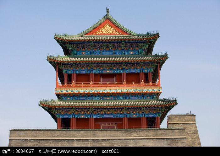 北京前门塔楼图片