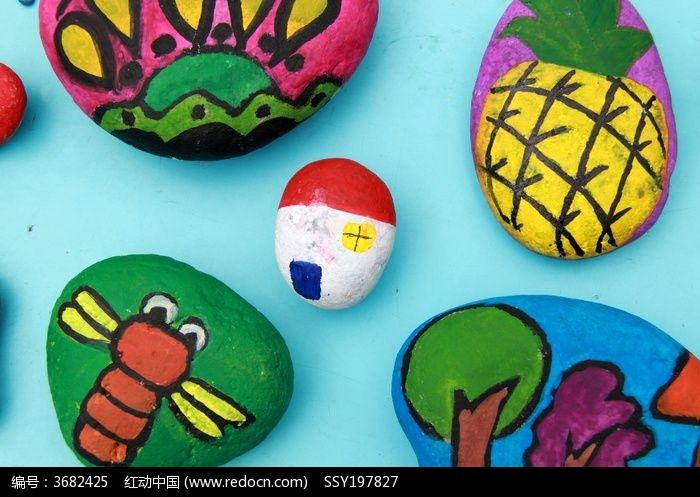 儿童石头画图片