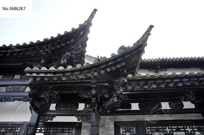 昆明古城的古代建筑屋檐