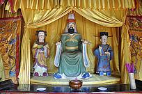 盘王及童子雕像图片