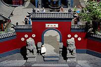 古代东院庙大门模型