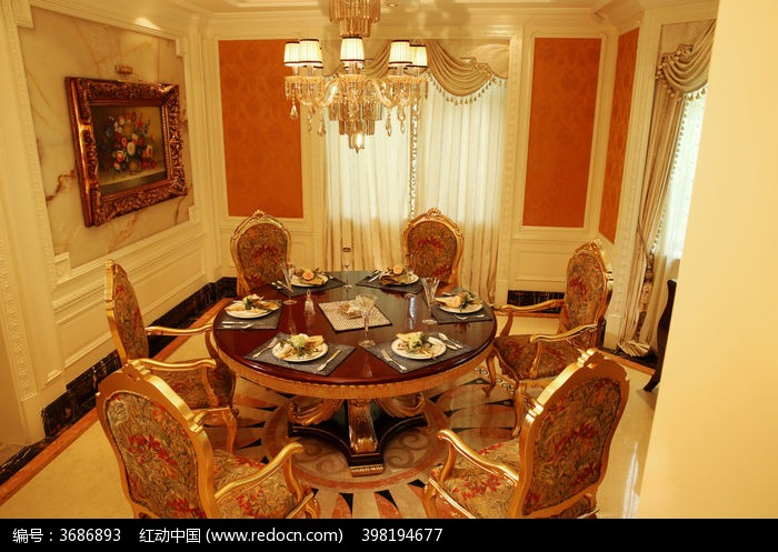欧式餐厅图片,高清大图