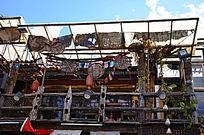 竹编与木制装饰建筑