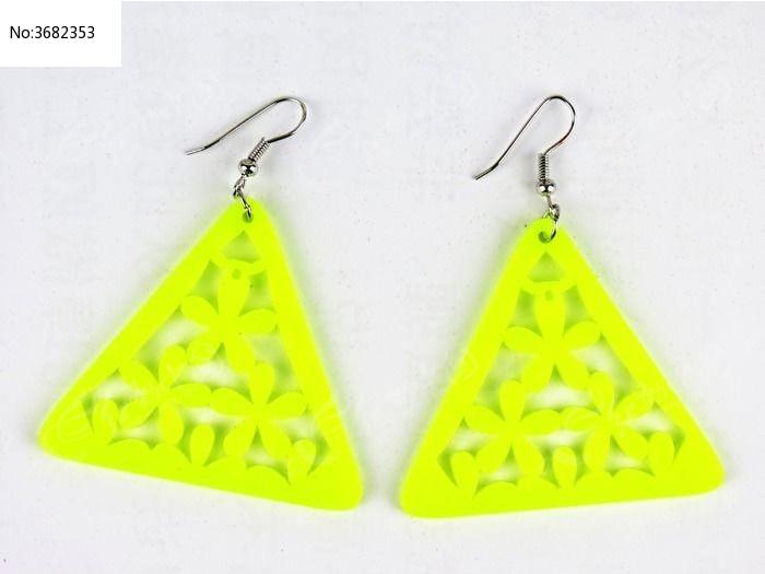 三角形耳环  几何形耳环 树胶耳环 星星耳环