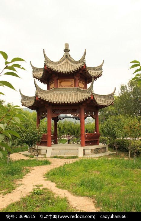 中式六角凉亭图片图片,高清大图_园林景观素材