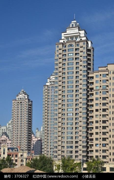 欧式高层住宅图片