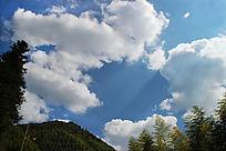 蓝天白云背景素材