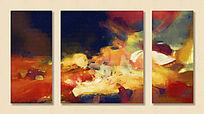 装饰画 油画抽象