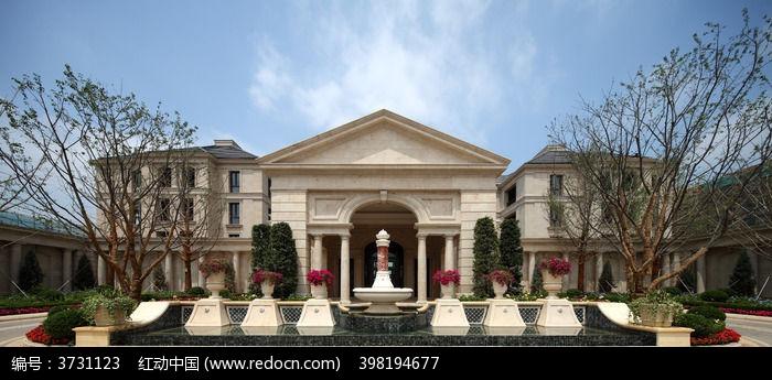 欧式别墅建筑图片,高清大图