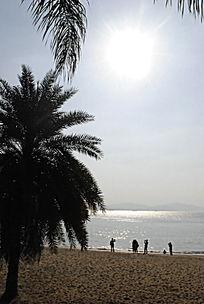 阳光下的沙滩