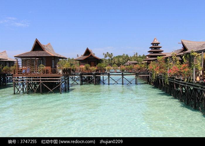 马布岛特色水上屋图片