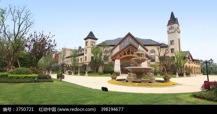 欧式别墅建筑小区图片