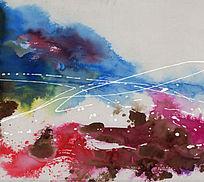 抽象 流彩画 纯抽象油画