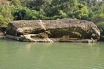 九曲溪上一块大石头