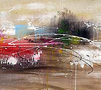 抽象油画 抽象画 装饰画 无框画