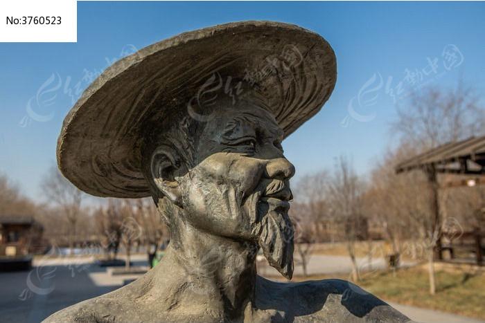 雕塑头像特写图片