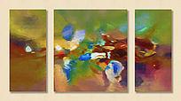 三联油画 抽象画 抽象油画