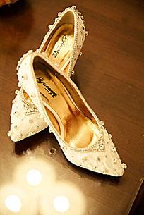 时尚女鞋 水晶鞋 结婚用婚鞋