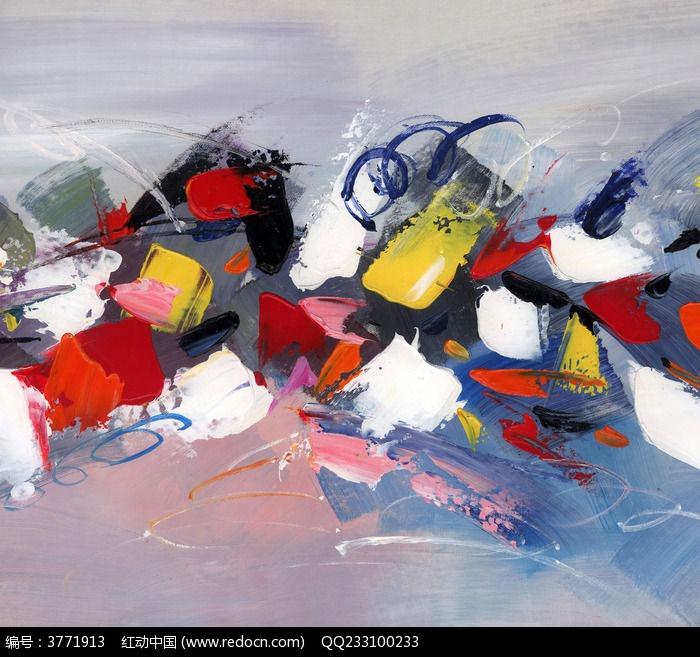 手绘抽象油画图片