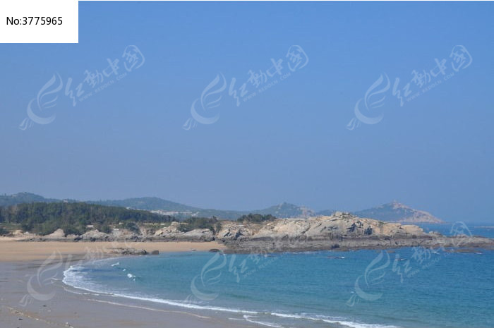 湄洲岛 鹅尾海蚀地质公园 海 大海 海水 海洋 蓝天 水天一线